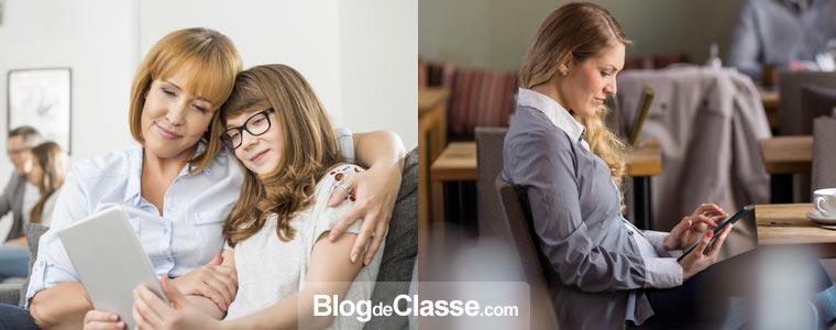 L'utilisation est très simple et le service est à la portée de tous : une fois que l'espace est créé, l'administrateur peut partager l'adresse du blog privé aux familles et leur communiquer le mot de passe pour se connecter.