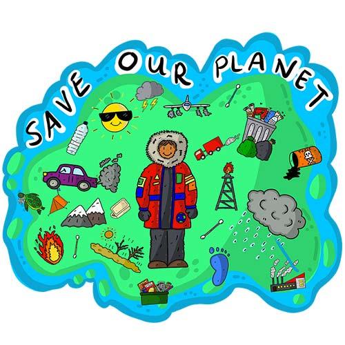 Leurs ressources gratuites pour les étudiants contient des jeux et des tests. Posant des questions aux élèves sur le transport, le logement et les habitudes alimentaires pour les aider à mieux comprendre comment leurs activités quotidiennes affectent la planète.